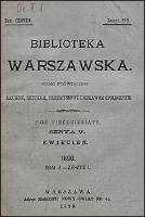 Biblioteka Warszawska 1890 Tom 2 Zeszyt 1