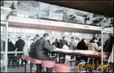 Śródmieście, bar samoobsługowy Extra przy Alei Niepodległości, wnętrze sali konsumpcyjnej, Szczecin