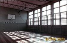 Szkoła 1000-lecia przy ulicy Witkiewicza, wnętrze sali gimnastycznej, Szczecin