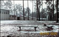 Szkoła 1000-lecia na Głębokiem, widok ogólny pawilonów klasowych z salą gimnastyczną, Szczecin