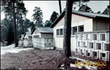 Szkoła 1000-lecia na Głębokiem, pawilony klasowe połączone ażurowym ogrodzeniem, widok ogólny, Szczecin