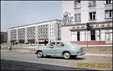 Przedmieście Świdnickie, ulica Piłsudskiego (dawniej Świerczewskiego), fragment nowej zabudowy obok kawiarni Wiking, Wrocław