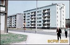 Ulica Kościuszki z ciągiem nowej zabudowy i fragmentem budynku przy ulicy Dworcowej, Wrocław