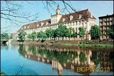 Stare Miasto, Uniwersytet Wrocławski, Gmach Główny, fasada północna, widok od strony Odry, Wrocław