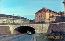 Śródmieście, trasa W-Z, tunel, wjazd od zachodu pod ulicą Miodową, Warszawa