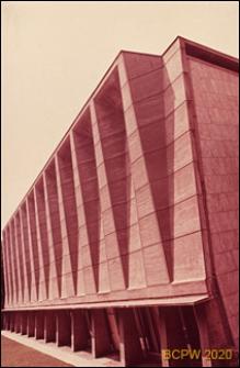 Pałac UNESCO, sala obrad plenarnych, elewacja budynku, Paryż, Francja