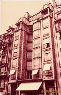 Budynek mieszkalny przy rue Franklin, widok zewnętrzny, Paryż, Francja