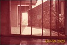 Miasteczko Uniwersyteckie, Dom Brazylijski, widok z wnętrza na elewację budynku klubu, Paryż, Francja