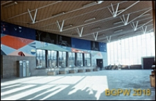 Dworzec PKP Warszawa Gdańska, widok poczekalni z kasami, Warszawa