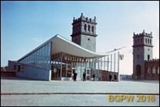 Śródmieście, przystanek PKP Warszawa Powiśle przy Moście Poniatowskiego, widok ogólny, Warszawa