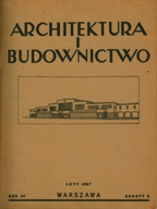 Architektura i Budownictwo 1927 nr 2