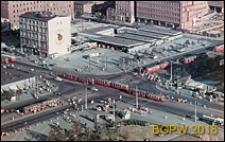 Skrzyżowanie ulicy Marszałkowskiej i Alej Jerozolimskich, widok panoramiczny, Warszawa