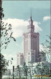 Pałac Kultury i Nauki, widok ogólny zewnętrzny, Warszawa