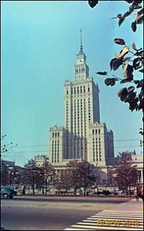 Pałac Kultury i Nauki, widok zewnętrzny od ulicy Marszałkowskiej, Warszawa