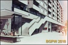 Osiedle mieszkaniowe Emilia, róg Złotej, blok mieszkalny z partem usługowym, Warszawa