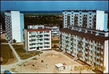 Osiedle mieszkaniowe Młociny, widok panoramiczny od strony podwórka, Warszawa