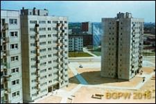 Osiedle mieszkaniowe Młociny, dziesięciopiętrowe bloki mieszkalne, Warszawa