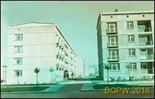 Osiedle Muranów, widok budynków wielkopłytowych i terenu osiedlowego, Warszawa