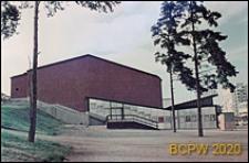 Kino Fontänen, elewacja boczna budynku, Sztokholm-Vällingby, Szwecja