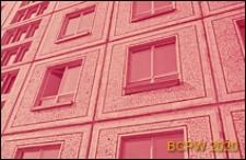 Osiedle domów wielkopłytowych, fragment elewacji budynku mieszkalnego, Sankt Petersburg, Rosja