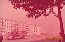 Osiedle domów wielkopłytowych, fragment zabudowy, widok od strony ulicy, Sankt Petersburg, Rosja
