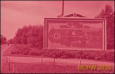 Nadmorski Park Zwycięstwa, park kultury i wypoczynku, tablica z planem parku i stadionu im. S. M. Kirova, Sankt Petersburg, Rosja