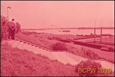 Stadion im. S. M. Kirova, widok panoramiczny ze schodów stadionu na Zatokę Fińską, Sankt Petersburg, Rosja
