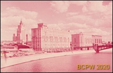 Zabudowa Nabrzeża Smoleńskiego, widok ogólny od strony rzeki Moskwy, Moskwa, Rosja