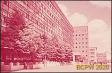 Budynek Centrosojuzu, widok od strony ulicy Miasnickiej, elewacja frontowa budynku, Moskwa, Rosja