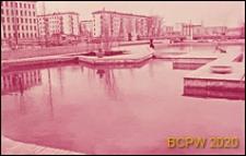 Osiedle mieszkaniowe, sadzawka, Moskwa, Rosja