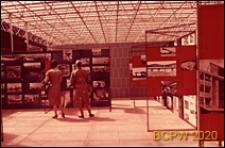 VI Kongres UIA, wnętrze pawilonu wystawowego, fragment wystawy, Londyn, Wielka Brytania