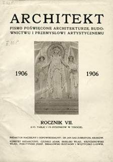 Architekt 1906 z.10
