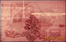 Plan miasta, Corby, Anglia, Wielka Brytania