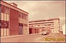 Zaplecze budynków w centrum miasta, Corby, Anglia, Wielka Brytania