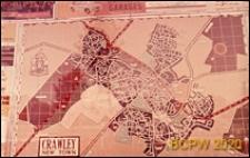 Plan miasta, Crawley, Anglia, Wielka Brytania