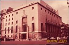 Siedziba Stowarzyszenia Architektów Brytyjskich RIBA na rogu ulic Portland Place i Weymouth Street, widok zewnętrzny, Londyn, Wielka Brytania