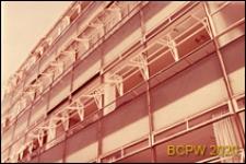 Szkoła średnia zawodowa, fragment elewacji budynku, Londyn, Wielka Brytania