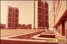 Osiedle mieszkaniowe Brandon Estate, wieżowce mieszkalne, widok zewnętrzny, Londyn, Wielka Brytania