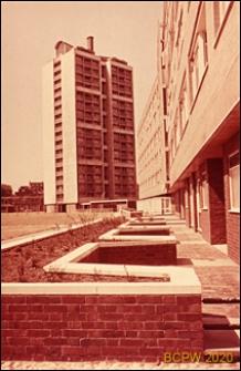 Osiedle mieszkaniowe Brandon Estate, wieżowiec mieszkalny, widok ogólny, Londyn, Wielka Brytania