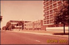 Osiedle mieszkaniowe Loughborough Road Estate, zabudowa mieszkaniowa wzdłuż ulicy, Londyn, Wielka Brytania