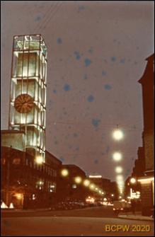 Ratusz w oświetleniu nocnym, Aarhus, Dania