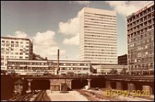 Hotel SAS, widok od strony linii kolejowych, Kopenhaga, Dania