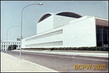 Dzielnica Esposizione Universale di Roma, Pałac Zjazdów i Kongresów, elewacja boczna budynku, Rzym, Włochy
