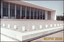 Dzielnica Esposizione Universale di Roma, Pałac Zjazdów i Kongresów, główna szklana elewacja budynku, Rzym, Włochy