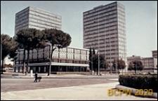 Dzielnica Esposizione Universale di Roma, biurowce, widok zewnętrzny, Rzym, Włochy