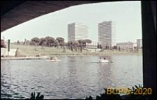 Dzielnica Esposizione Universale di Roma, zespół biurowców nad Tybrem, Rzym, Włochy