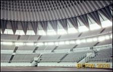 Dzielnica Esposizione Universale di Roma, Pałac Sportu, wnętrze, fragment widowni i kopuły, Rzym, Włochy