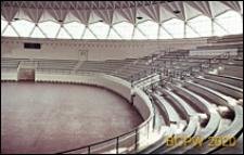 Mały Pałac Sportu, wnętrze, fragment widowni i areny, Rzym, Włochy
