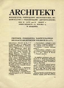 Architekt 1910 z. 2