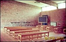 Ośrodek sportowy Acqua Acetosa, sala wykładowa, wnętrze, Rzym, Włochy